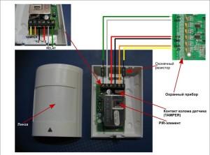 схема детектора и соединения