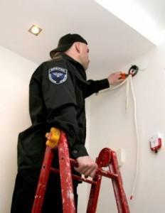 Фото монтаж пожарной сигнализации