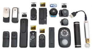 разнообразие форм и видов миниатюрных видеокамер
