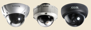 видеокамеры купольного типа с прозрачным и темным стеклом