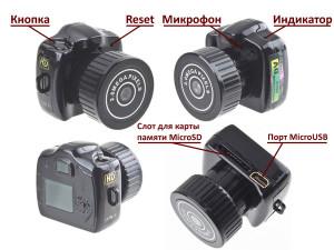 простейшие устройство самой маленькой мини камеры