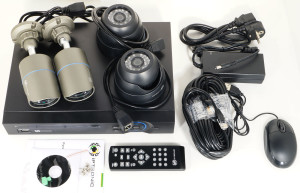 Комбинированный готовый комплект для видеонаблюдения