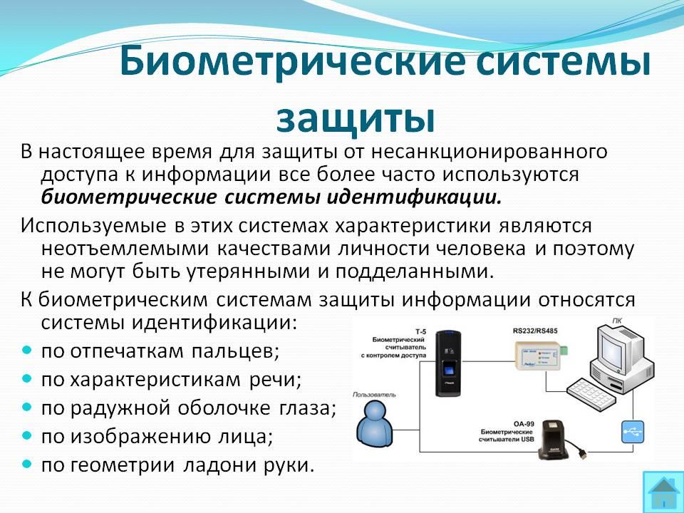 Биометрическая система защиты реферат