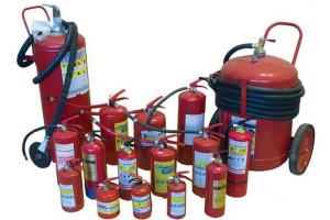 Виды огнетушителей порошкового типа
