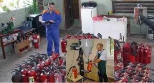Стоимость услуг по перезарядке огнетушителей