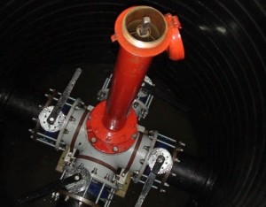 Процесс монтажных работ по обустройству гидрантов пожарного типа