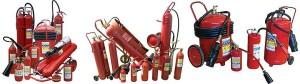 Различны виды порошковых огнетушителей